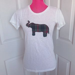 🐘J CREW🐘 Collector Tee Plaid Tartan Elephant